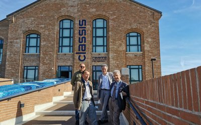 Salvatore Settis in visita al Classis Ravenna